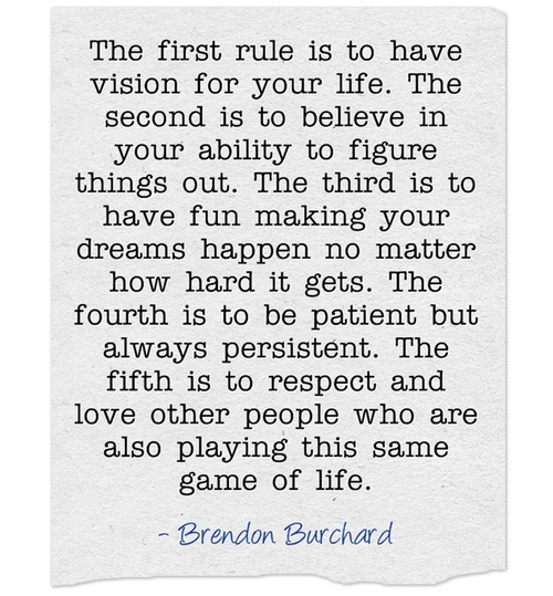 motivation, inspiration, motivational quotes, personal development, five rules of life, brendon burchard