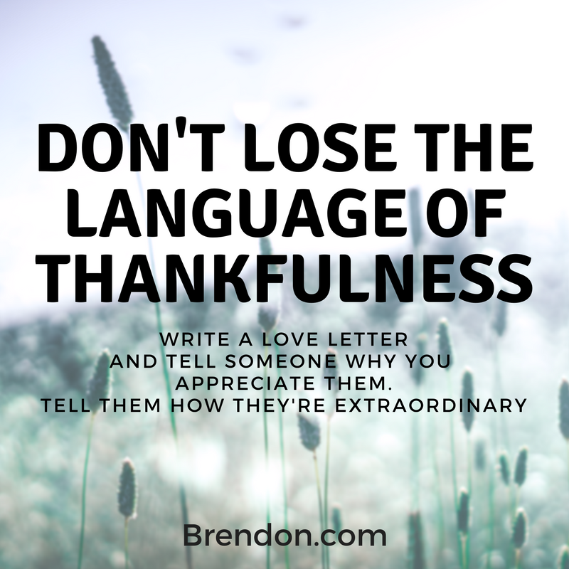 TBS Training Ep 5 Language of Thankfulness Brendon Burchard Quotes