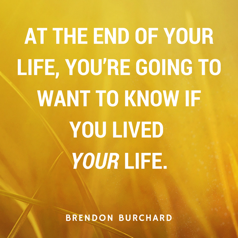 TBS TRAINING - POWER OF INTENTION 2 - BRENDON BURCHARD QUOTES
