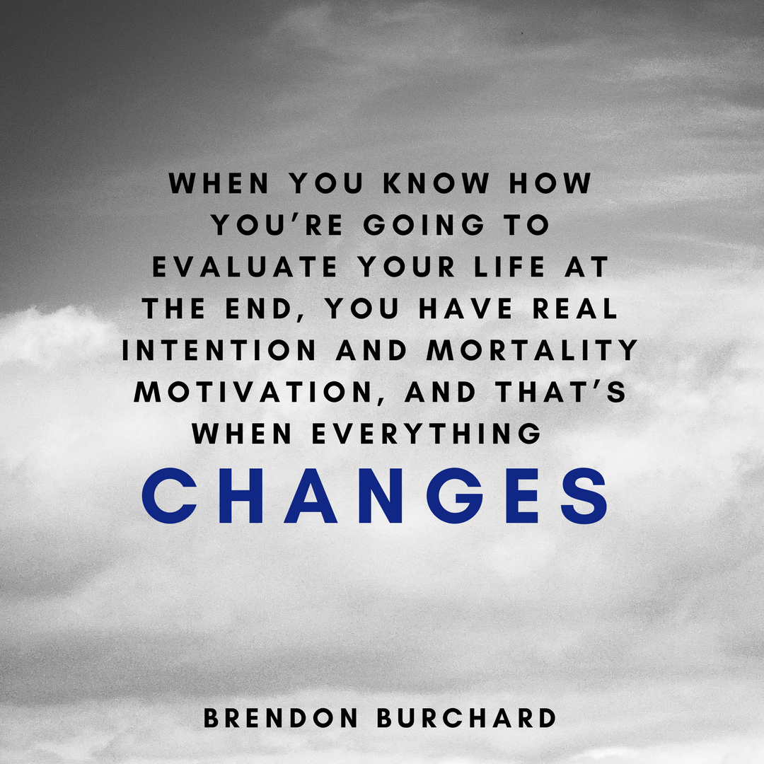 TBS TRAINING - THE POWER OF INTENTION 4 - BRENDON BURCHARD QUOTES